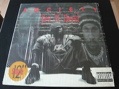 """Society...yes 'n' Deed...classic 90's Hip Hop Rap 12"""" Usa Import"""