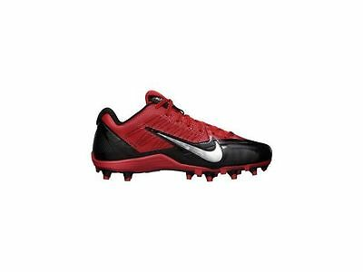new mens 12.5 nike alpha pro low TD football/lacrosse cleats red/black