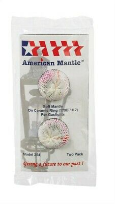 Soft Inverted Gas Light Mantle,No 254,  American Mantle Company Inc, 3PK