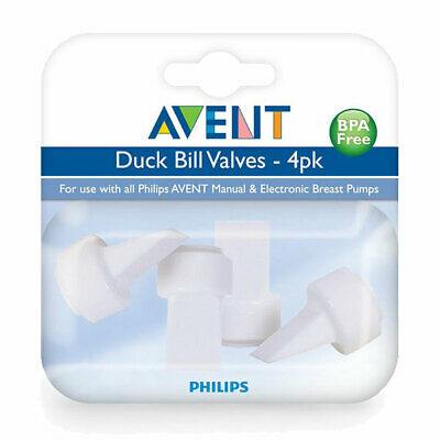 * Philips Avent Replacement Duck Bill Valves 4 Pack For Breast Pumps Bpa Free