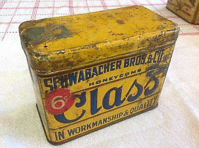 Antique Class Honeycomb Schwabacher Bros And Co Tobacco Tin