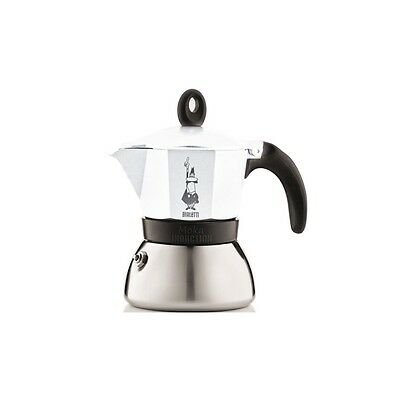 Cafetière italienne bialetti induction Moka express blanche - 3 tasses-BIALETTI