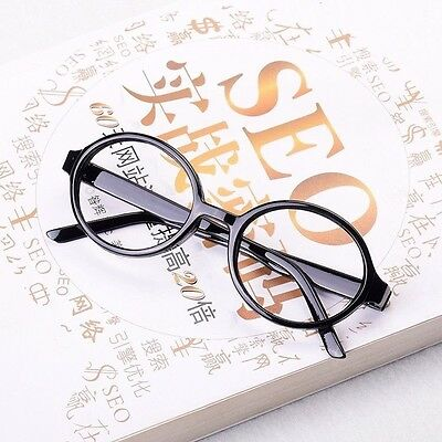 Harry Potter Black Resin Glasses No Lens Frame Adults Kids Fancy Costume Cosplay