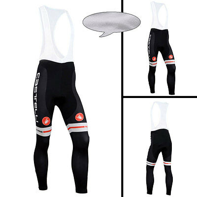 New Winter Mens Cycling Trousers Cycling Tights Bicycle Bib Pants Thermal Fleece
