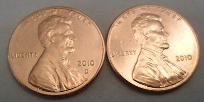 2010 P & D Lincoln Shield Cent / Penny Set (2 Coins)  SDS  **FREE SHIPPING**