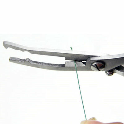 Stainless Steel Pliers Multifunction Fishing Knives Line Cutter Tools AU