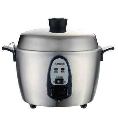 Tatung TAC-6KNV4-SS 6 Cup Rice Cooker (Stainless Steel)