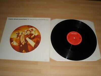 "Manic Street Preachers 12"" Vinyl P/s Life Becoming A Landslide Ex """