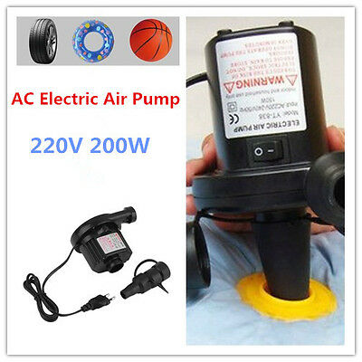 AC Electric Air Pump Inflate AirBed Mattress Boat Electric Inflator EU Plug MC