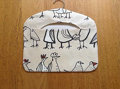New Chickens Beige Peg Bag