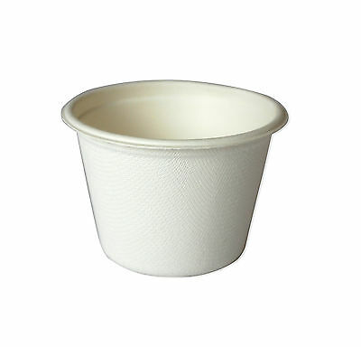BULK (50pc) Biodegradable ice-cream gelato cup Small sauce cup bowl only (B11)