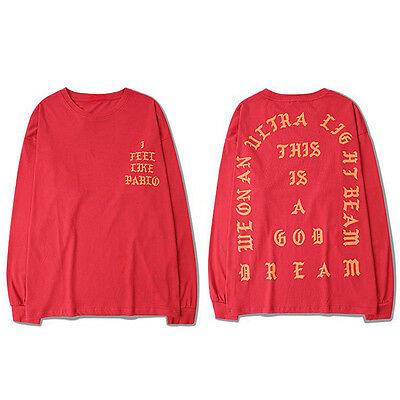 I Feel Like Pablo T Shirt Long Sleeve tee Kanye West Life of Pablo Tour Merch