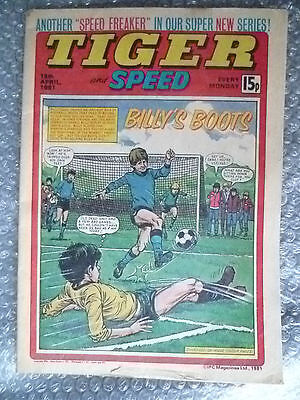 Comic- Tiger & Speed Comic, 18th April 1981; Billy's Boots............