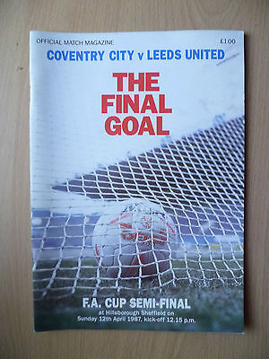 1987 FA CUP SEMI FINAL- COVENTRY CITY v LEEDS UNITED, 12th April