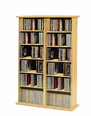 VCM CD/ DVD Ronul Tower without Doors, Beech