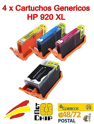 4 Cartuchos de Tinta NON-OEM HP 920XL - Officejet 6500 A Plus