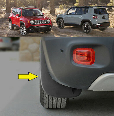 Set MUD FLAPS FOR Jeep Renegade 2015 2016 2017 Front Rear Molded Splash Guards