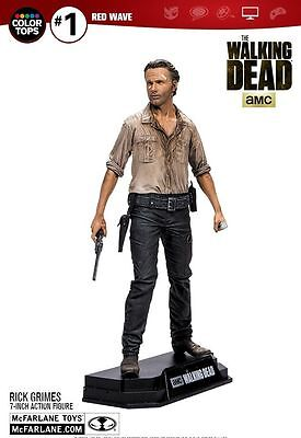 "Walking Dead Rick Grimes Colour Tops 7"" Action Figure McFarlane"