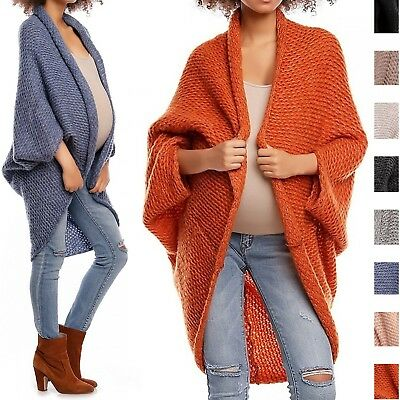 Happy Mama. Women's Maternity Knit Cocoon Cardigan Dolman Sleeve Pregnancy. 364p