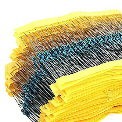 2600 pcs 130 Values 1/4W ±1% 0.25W Metal Film Resistors Kit Pack Mix Assortment