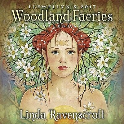 Official Llewellyn's 2017 Woodland Faeries Wall Calendar - Square - New & Sealed