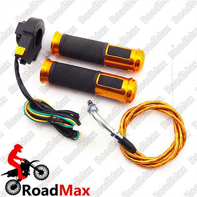 Performance Gas Motorized Bicycle Gold Grip Kill Switch Throttle Cable Push Bike