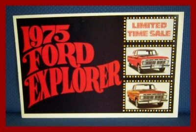 1975 FORD Explorer Pickup Truck Sales Brochure Mailer - FREE USA Shipping