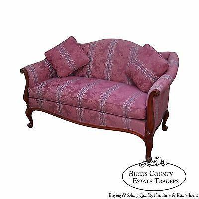 Hickory Chair French Style Solid Mahogany Frame Loveseat (B)