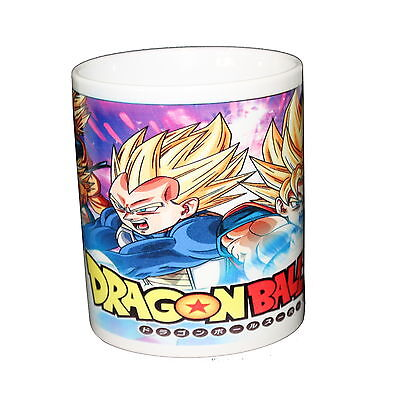 Taza blanca Dragon Ball vegeta goku goten trunks gohan super saiyan white cup M2