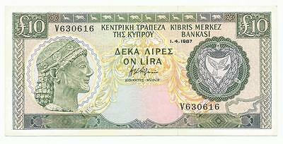 CYPRUS 10 pounds 1987 Rare note. Bargain!