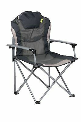 Kampa The Guv'nor Folding Camping Armchair Heavy Duty Max Load 18.9st - Charcoal