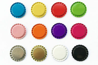 "100 1"" inch Flat Linerless Double Sided Painted Flattened Bottle Caps For Crafts"