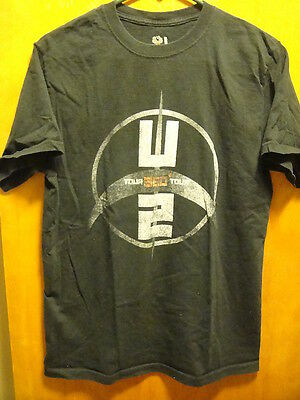 U2 ~ The 360 Degrees Tour ~ Concert T Shirt ~ Dates on Back