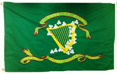 3x5 ft Sons Of Erin CSA Flag 10th Tennessee Irish Regiment Print Polyester Flag