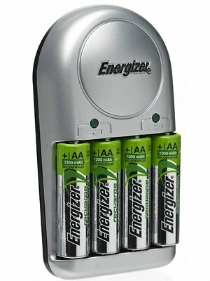 Energizer Base Battery Charger inc 4x AA 1300mAh Rechargeable Batteries