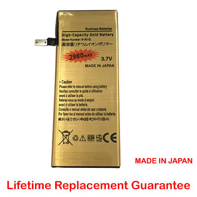 High Capacity New Replacement Gold Battery for iPhone 6 ONLY 2980mAh from UK