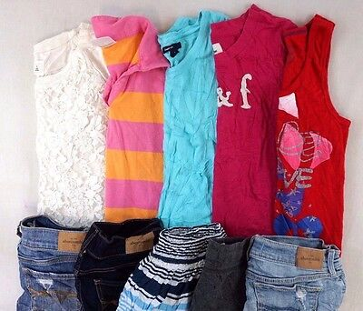 Abercrombie Lot of 10 Kids Girls Shirts, Shorts, Jeans Large L 10/12 [G10783]