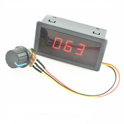 New DC 6-30V 12V 24V 5A MAX MOTOR PWM SPEED CONTROLLER WITH DIGITAL DISPLAY