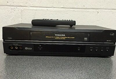 Toshiba W522C VHS VCR Video Cassette Recorder Player 4 Head HiFi with Remote