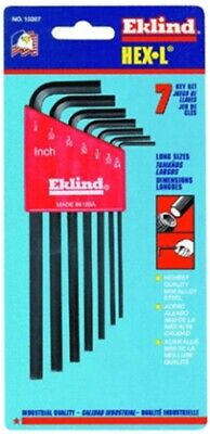 7-Piece Long Arm Hex Key Set,No 10207,  Eklind Tool Co, 3PK