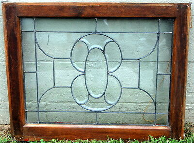 Antique 1880s Leaded and Beveled Glass Window, Architectural Salvage