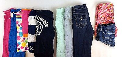 Abercrombie Lot of 11 Kids Girls T-Shirts, Shorts, Jeans Large L 10/12 [G10788]