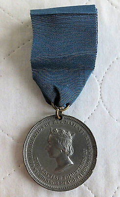 1860 QUEEN VICTORIA 44mm MEDAL SCOTTISH VOLUNTEERS REVIEW  - by dowler