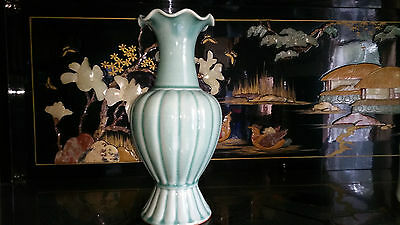 Old Antique signed KOREAN PORCELAIN POTTERY CELADON VASE