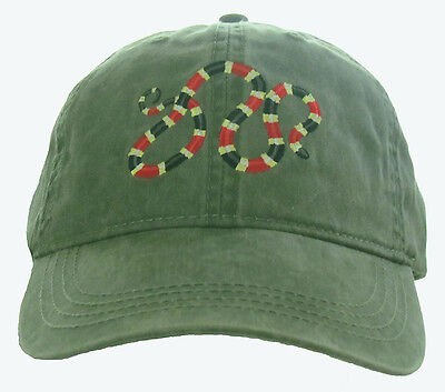 Coral Snake Embroidered Cotton Cap NEW Hat Reptile
