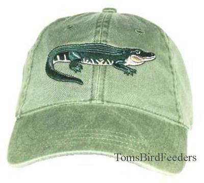 Alligator Embroidered Cotton Cap NEW Reptile Hat