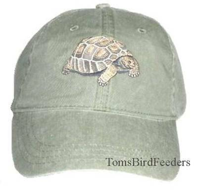 Tortoise Embroidered Cotton Cap NEW Lo Shipping