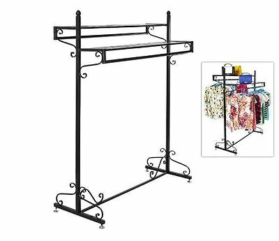 Boutique Clothing Rack Garment Retail Shelves Display Store Vintage Hanger Bar