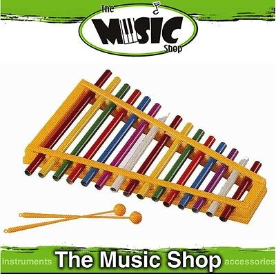 New Mitello 15 Note Colourful Pipe Xylophone with Mallets - ED581