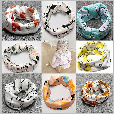 New Kids Baby Toddler Boys Girls Cotton Snood Scarf Ring Scarves Neckerchief